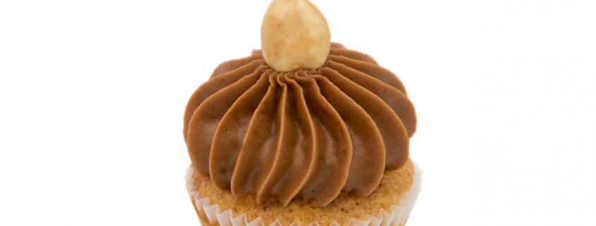 Birne-Nuss Cupcake & Nougat Creme glutenfrei