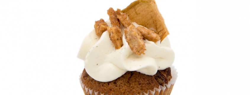 Apfel-Mandel Cupcake & Vanille-Pudding Creme glutenfrei