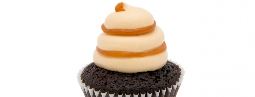 Cappuccino Cupcake & süßes Karamell Topping