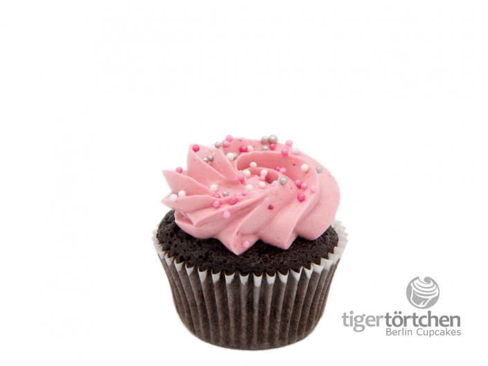 Schoko-Himbeer Cupcake & Himbeer Creme - Berlin Cupcakes