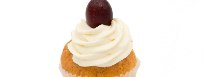 Herzhafter Ziegenkäse Cupcake & frisches Creme Topping