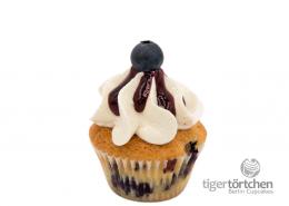 Zitrone-Heidelbeere Cupcake & Honig Creme