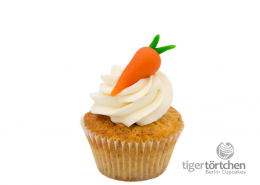 Karotten-Nuss Cupcake & White Chocolate Creme glutenfrei