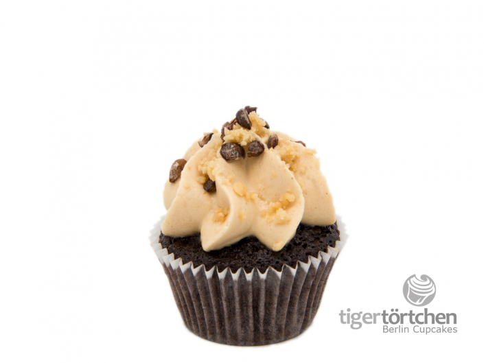 Schoko-Karamell Cupcake & Erdnuss Creme vegan