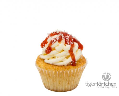 Vanille Cupcake & Vanille Creme mit Erdbeeren