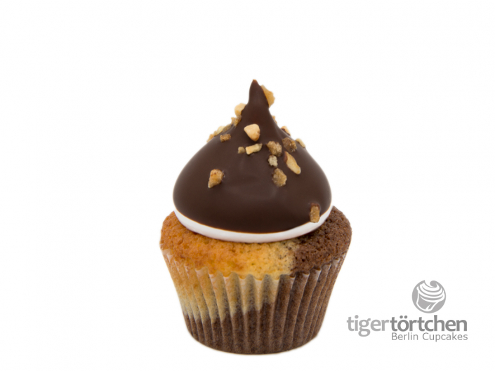 Marmor-Kirsch Cupcake & luftige Schoko-Krokant Haube Berlin Cupcakes