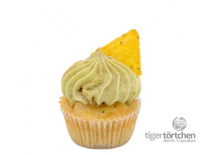 Herzhafter Mais-Bohnen Cupcake & Avocado-Creme mit Taco - Berlin Cupcakes