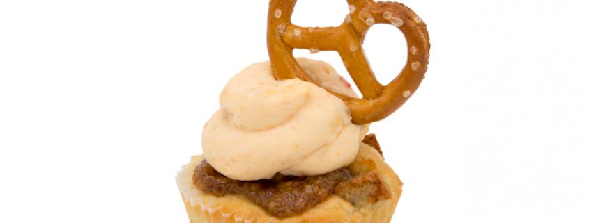 Herzhafter Weißwurst Cupcake & Obazda Creme