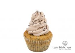 Vanille-Mohn Cupcake & Pflaumen Creme