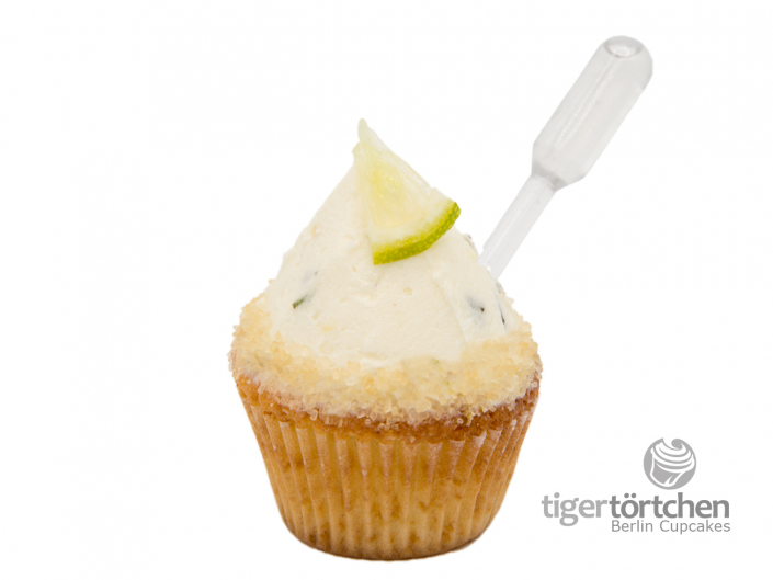 Limette-Rohrzucker Cupcake & Minz Topping mit Rum Infusion - Berlin Cupcakes