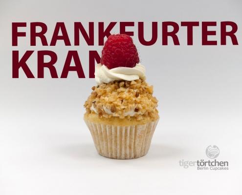 Vanille Cupcake & Vanille-Krokant Creme und Himbeere