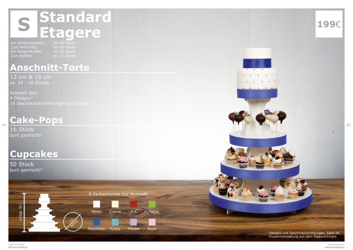 Hochzeitstorte Größe S Anschnitt Torte, Cupcakes, Cake-Pops