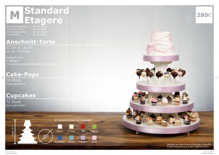 Hochzeitstorte Größe M Anschnitt Torte, Cupcakes, Cake-Pops
