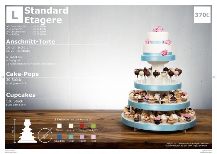 Hochzeitstorte Größe L Anschnitt Torte, Cupcakes, Cake-Pops