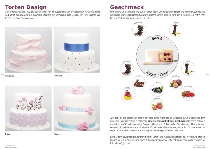 Hochzeitstorte Etagere Standard Design Geschmacksauswahl