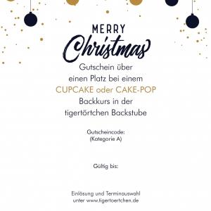 Geschenk Gutschein Weihnacht Backen Backevent