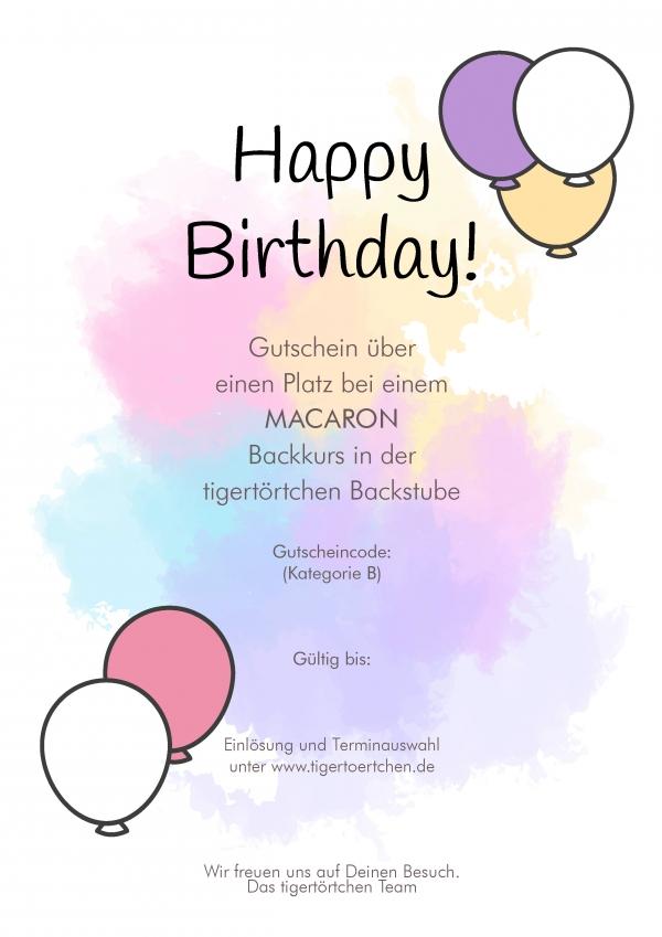 Geschenk Geburtstag Berlin Gutschein Backen Event
