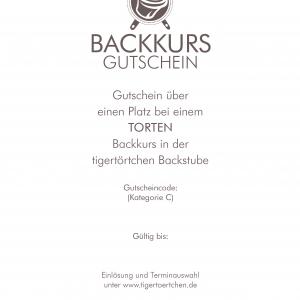 Backkurs Gutschein Torten Berlin