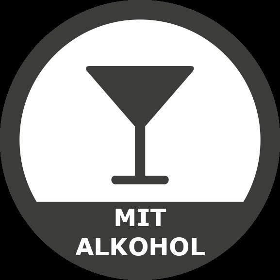 Mit Alkohol