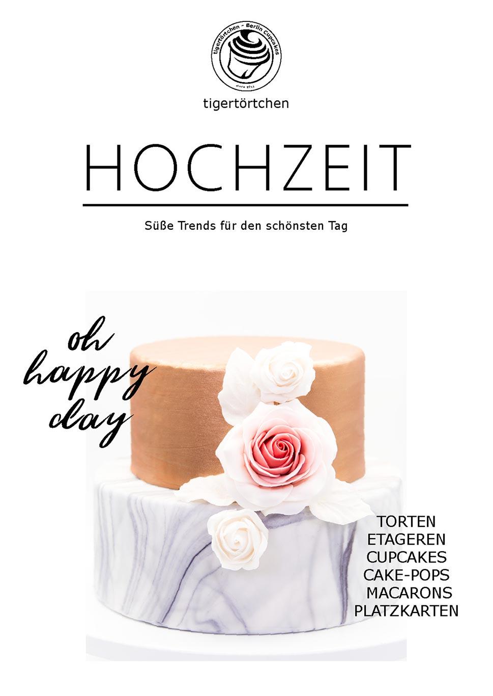 Flyer moderne Hochzeitstorte Berlin