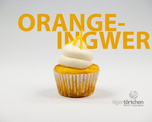 Orange-Mandel Cupcake & Ingwer Creme