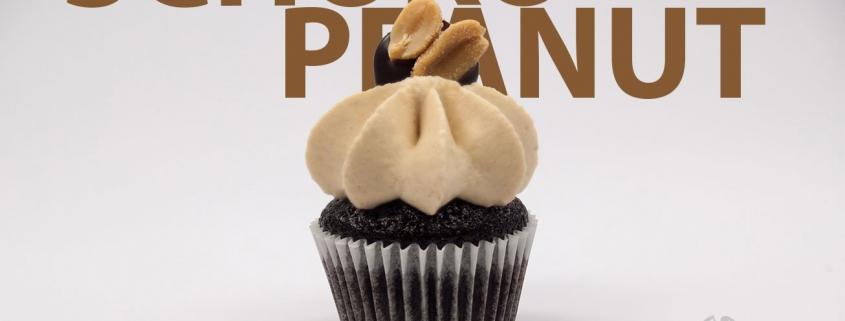 Schoko-Karamell Cupcake & Erdnuss Creme
