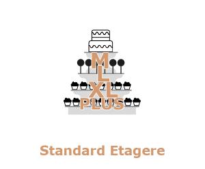 Günstige Hochzeitstorte Etagere Cucpakes Cake-Pops Anschnitttorte