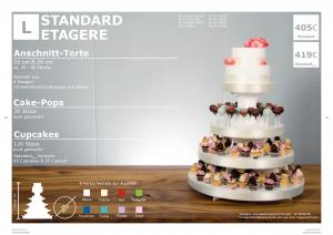 Günstigere Variante der Hochzeitstorte: Standard Etagere Größe L